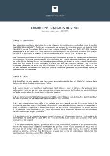 Carrières du Hainaut_Conditions générales de vente 2017
