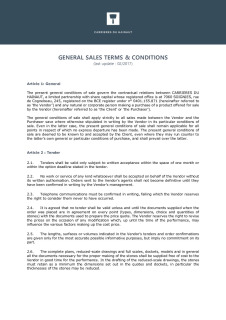 Carrières du Hainaut_General sales terms & conditions 2017